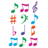 TCR5482 Musical Notes Mini Accents
