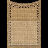 Burlap Magnetic Storage Pocket