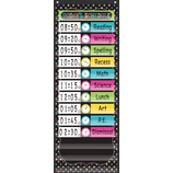 Chalkboard Brights 14 Pocket Daily Schedule Pocket Chart
