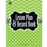 Lime Chevrons and Dots Lesson Plan & Record Book
