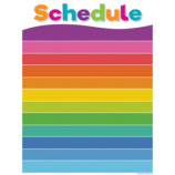 Colorful Schedule Write-On/Wipe-Off Chart