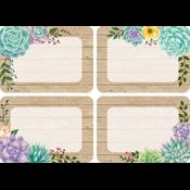 Rustic Bloom Name Tags/Labels - Multi-Pack