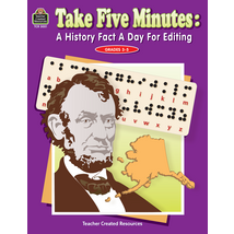 TCR3051 Take Five Minutes: A History Fact a Day for Editing