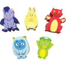 Whatsits Collectable Eraser Mystery Packs: Fantasy Friends - 5 Character Assortment
