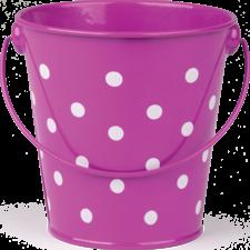 Purple Polka Dots Bucket