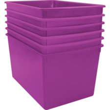 Purple Plastic Multi-Purpose Bin 6 Pack