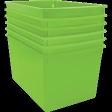 Lime Plastic Multi-Purpose Bin 6 Pack