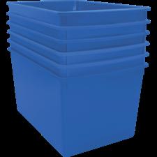 Blue Plastic Multi-Purpose Bin 6 pack