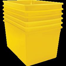 Yellow Plastic Multi-Purpose Bin 6 Pack