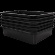 Black Large Plastic Letter Tray 6 Pack