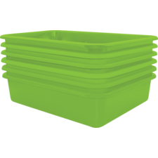 Lime Large Plastic Letter Tray 6 Pack