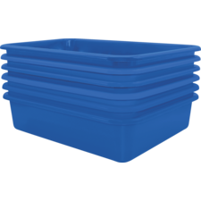 Blue Large Plastic Letter Tray 6 Pack