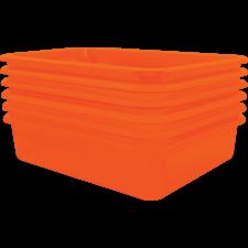 Orange Large Plastic Letter Tray  Pack