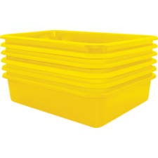Yellow Large Plastic Letter Tray 6 Pack