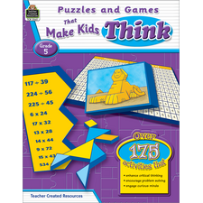 Puzzles and Games that Make Kids Think Grade 5