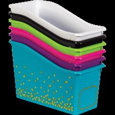 Assorted Confetti Book Bins Set 6-Pack