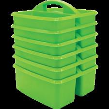 Lime Plastic Storage Caddies 6-Pack