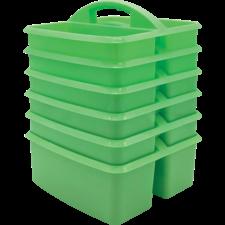 Mint Plastic Storage Caddies 6-Pack