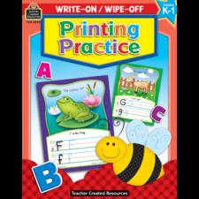 Printing Practice Write-On Wipe-Off Book