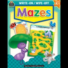 Mazes Write-On Wipe-Off Book