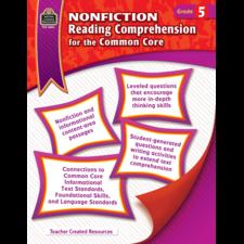 Nonfiction Reading Comprehension for the Common Core Grade 5