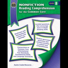 Nonfiction Reading Comprehension for the Common Core Grade 8