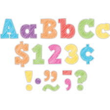 """Scribble Bold Block 3"""" Letters Combo Pack"""