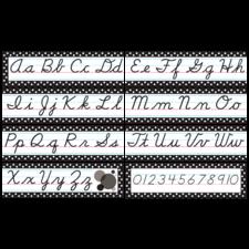 Black Polka Dots Cursive Mini Bulletin Board