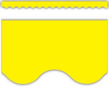 Yellow Scalloped Border Trim