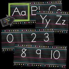 Chalkboard Brights Alphabet Line Bulletin Board Set