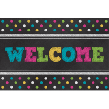 Chalkboard Brights Welcome Postcards