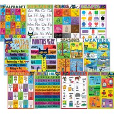 Pete the Cat Early Learning Small Poster Pack