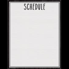 Modern Farmhouse Schedule Write-On/Wipe-Off Chart