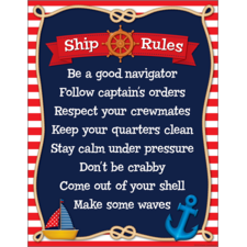 Nautical Ship Rules Chart