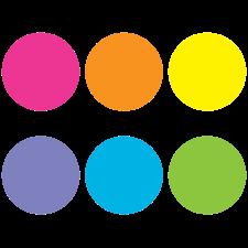 "Spot On Carpet Markers Bright Circles - 7"""