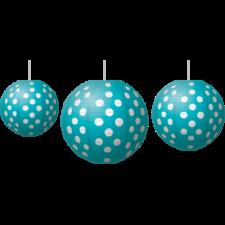 Teal Polka Dots Paper Lanterns