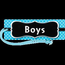Aqua Polka Dots Magnetic Boys Pass