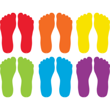 "Spot On Floor Markers Footprints - 7"""