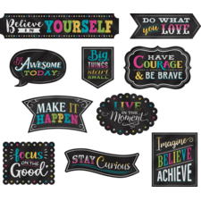 Clingy Thingies Chalkboard Brights Positive Sayings Accents