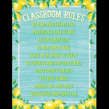 Lemon Zest Classroom Rules Chart
