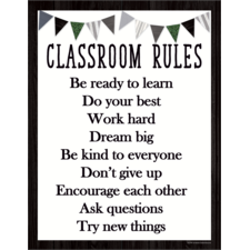 Modern Farmhouse Classroom Rules Chart