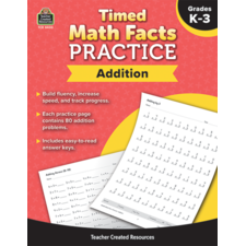 Timed Math Facts Practice: Addition