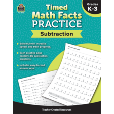 Timed Math Facts Practice: Subtraction
