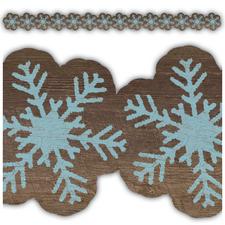 Home Sweet Classroom Snowflakes Die Cut Border Trim