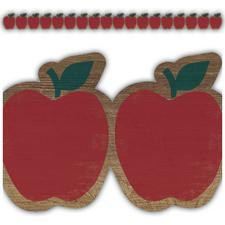 Home Sweet Classroom Apples Die Cut Border Trim