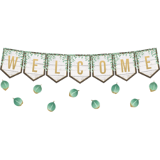 Eucalyptus Pennants Welcome Bulletin Board