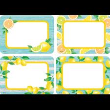 Lemon Zest Name Tags/Labels - Multi-Pack