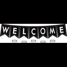 Modern Farmhouse Pennants Welcome Bulletin Board