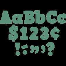 "Eucalyptus Green 4"" Bold Block Letters Combo Pack"