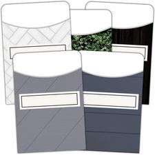 Modern Farmhouse Library Pockets - Multi-Pack